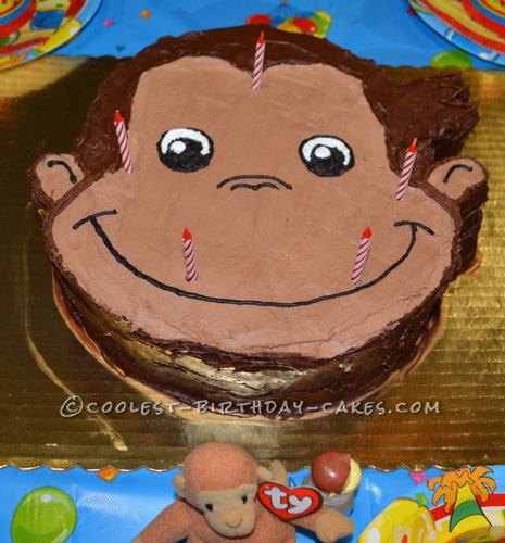 Coolest Curious George Birthday Cake
