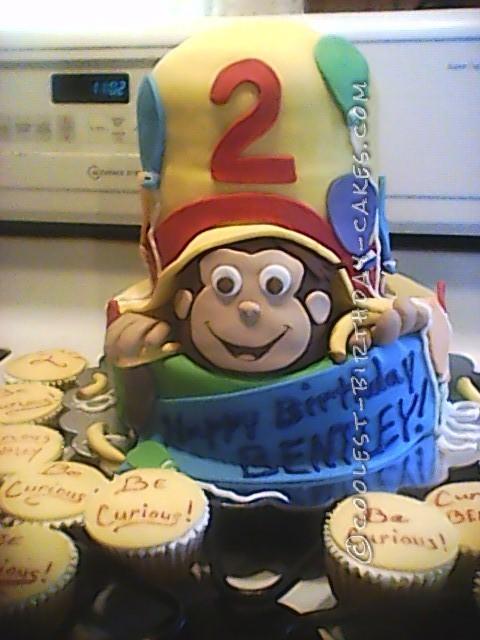 My First Curious George Birthday Cake