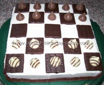 Checker Board Decorated Cake