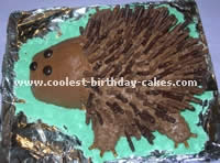Hedgehog Decorated Birthday Cakes