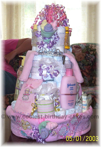 Coolest diaper cake ideas for Baby shower diaper cake decoration