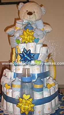 My first  Diaper Cake
