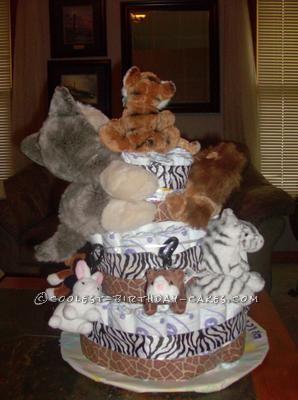 Coolest Woodland Animals Diaper Cake