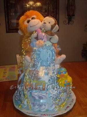 Coolest Monkey Diaper Cake