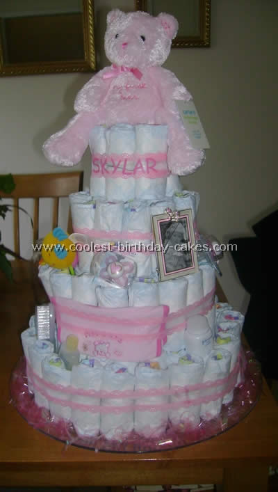diaper cake instructions coolest cake and photos 3533