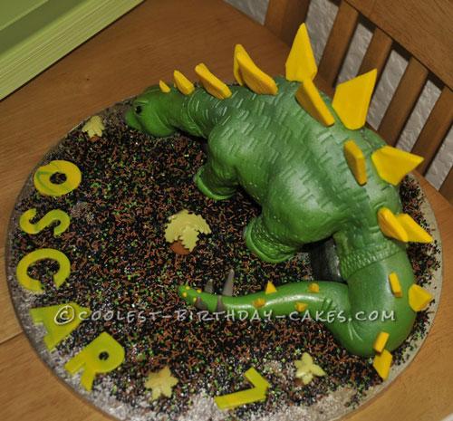 Coolest Dairy Free Stegosaurus Dinosaur Birthday Cake