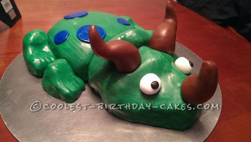 Coolest Green Dinosaur Birthday Cake