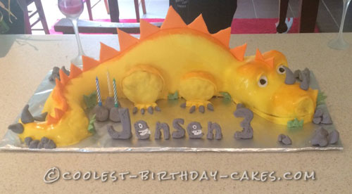 Coolest Dino 3rd Birthday Cake