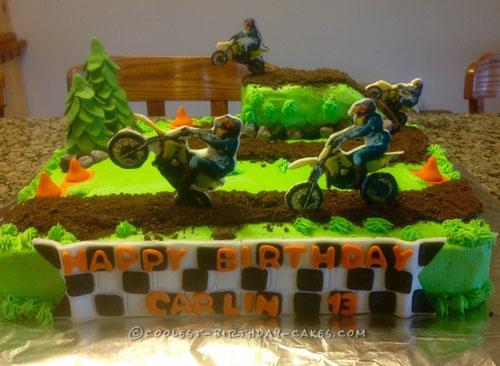 Let's Ride Dirt Bike Cake