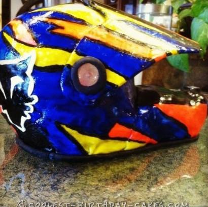 Dirt Bike Helmet Cake