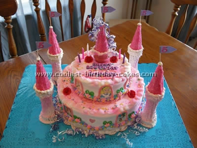 Kids Birthday Party Games on Disney Castle Cake 169