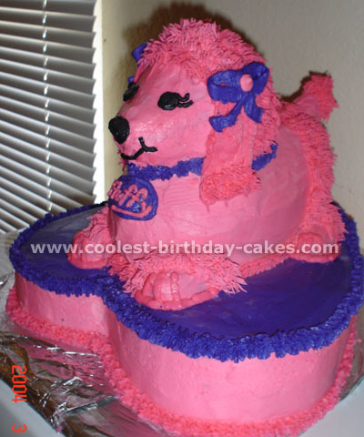 Coolest Homemade Poodle Doggie Cake Recipes And Photos 4