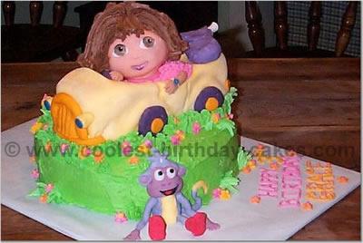 Coolest Homemade Dora the Explorer Scene Cakes
