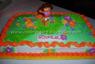 Coolest Homemade Dora the Explorer Scene Cakes