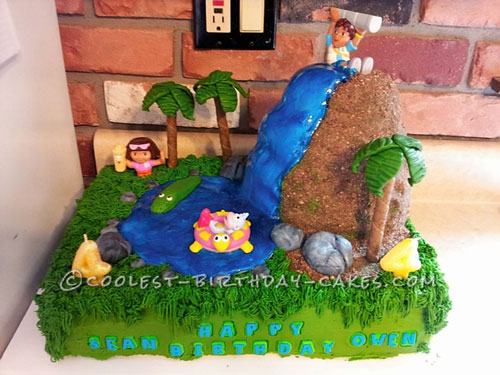Coolest Diego and Dora Cake for 4 Year Old Twins