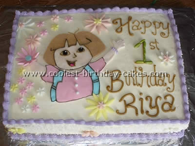 Dora the Explorer Birthday Cake Photo
