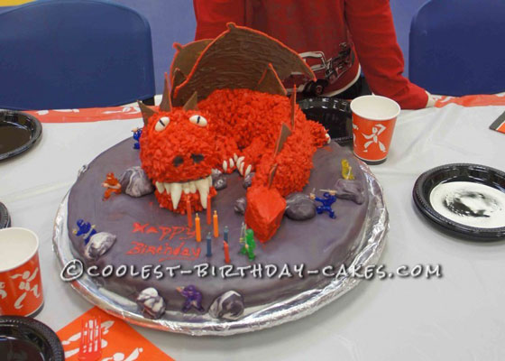 Cool Dragon Cake for a Ninja Birthday Party