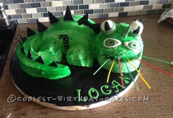 Coolest Fire Breathing Dragon Cake