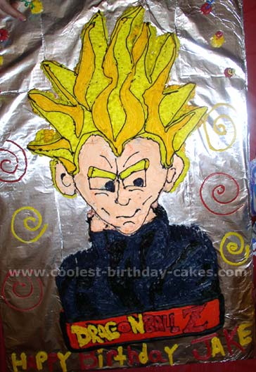 Dragonball Z Cake Photo