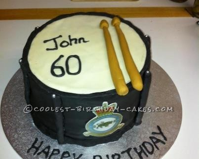 Coolest Pipe Band Drum Cake