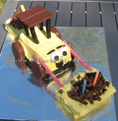 Bulldozer Shaped Cake Pan