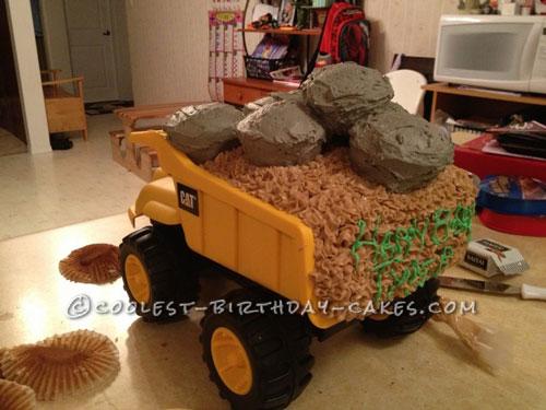 Coolest Dump Truck Cake