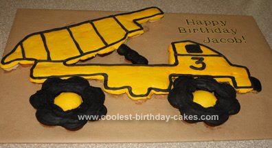 Coolest Dump Truck Birthday Cake