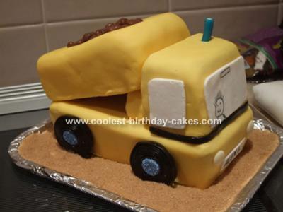 Coolest Dumper Truck Cake