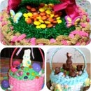 Easter Basket Birthday Cakes