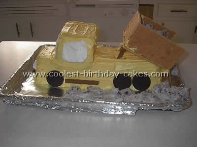 Pickup Shaped Easy Cake Recipe