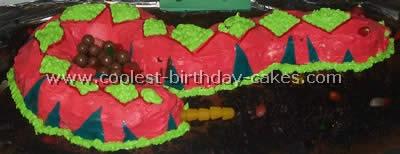 Homemade Snake Birthday Cake