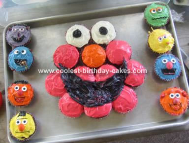 Elmo and friends cupcakes