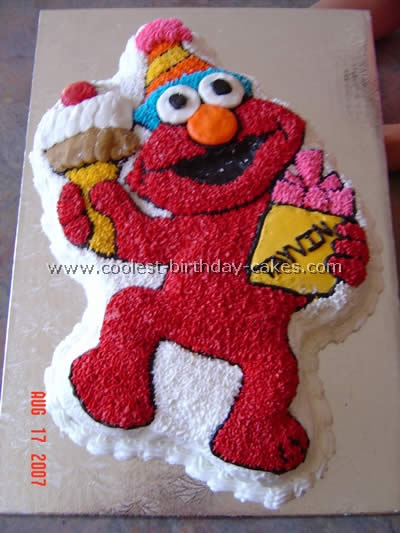 elmo cake pan coolest elmo birthday cakes 3883
