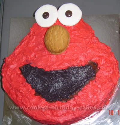 Coolest Homemade Elmo Cakes