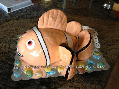 Coolest Finding Nemo Clownfish Birthday Cake