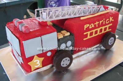 Coolest Coolest Fire Truck Cake Design