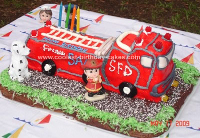 Coolest Fire Engine Birthday Cake