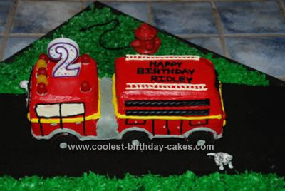 Coolest Fire Truck Birthday Cake
