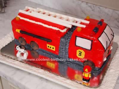 Swell Coolest 3Rd Birthday Fire Truck Cake Funny Birthday Cards Online Benoljebrpdamsfinfo