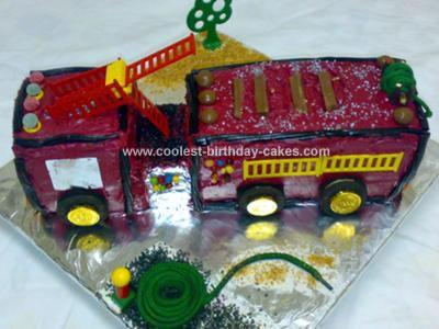 Coolest Fire Engine Birthday Cake