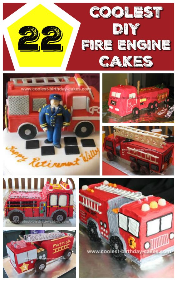 If you are looking to make a perfect cake to surprise a hero firefighter, or your son who dreams to become one, take a look at these cool Fire Engine Birthday Cakes. Let everyone have a slice of your beautiful heroic cake!