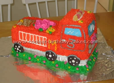 Coolest Homemade Fire Truck Cake Ideas 10