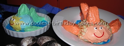 Homemade Fish Birthday Cakes
