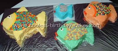 Homemade Fish Birthday Cakes