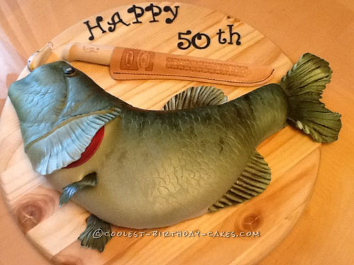 Coolest Fish Shaped Cake