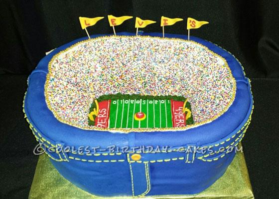 Football Stadium Sports Cakes