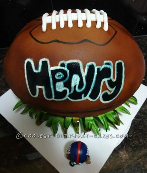 Coolest Football Birthday Cake