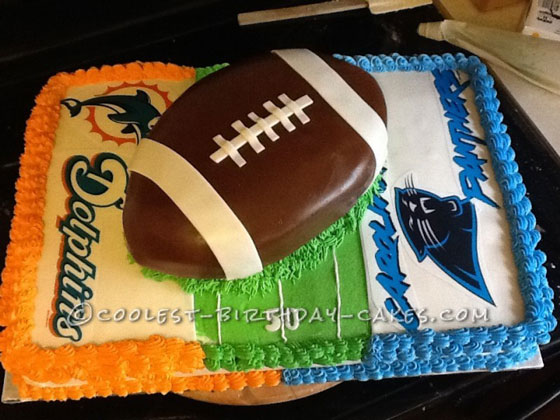Dolphin's vs Panthers Football Cake