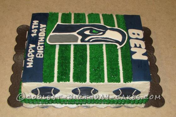 Coolest Football Field Birthday Cake