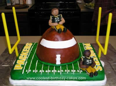 Coolest Packer Football Birthday Cake